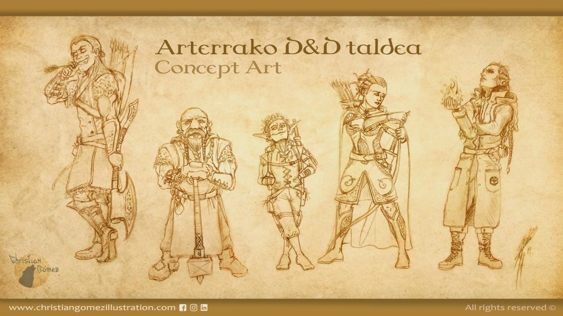 Concept Art Arterrako D&D Taldea